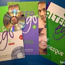 Libros de segunda mano: ALTER EGO 2 MÉTHODE DE FRANÇAIS A2 - LIVRE + CAHIER + GUIDE PÉDAGOGIQUE + CD MÉTODO DE FRANCÉS. Lote 80700266