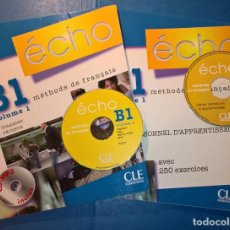 Libros de segunda mano: ÉCHO B1.1. LIVRE DE L'ÉLÈVE + CD MP3 + CAHIER + CD AUDIO + CORRIGÉS - MÉTODO DE FRANCÉS. Lote 80700870