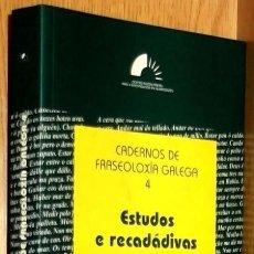 Libros de segunda mano: B679 - ESTUDOS. E. RECADADIVAS. FRAXEOLOXIA. LINGUA. IDIOMA GALLEGO. GALICIA.. Lote 80816499