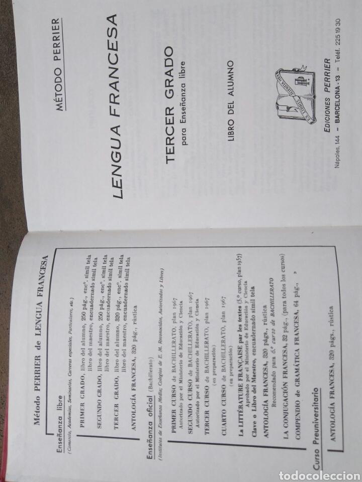 Libros de segunda mano: LENGUA FRANCESA -TERCER GRADO PARA ENSEÑANZA LIBRE- MÉTODO PERRIER. 1969 - Foto 4 - 82022424