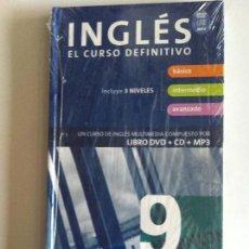 Libros de segunda mano: INGLES EL CURSO DEFINITIVO LIBRO DVD + CD + MP3 METODO VAUGHAN Nº 9. Lote 84810192