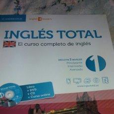 Libros de segunda mano: CURSO DE INGLES TOTAL INCLUYE DVD Y CD COMO NUEVO. Lote 85811668