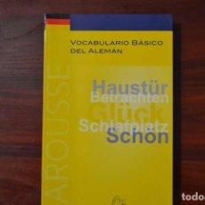 Libros de segunda mano: VOCABULARIO BÁSICO DEL ALEMÁN - LAROUSSE - OFERTA TEMPORAL. Lote 86901368