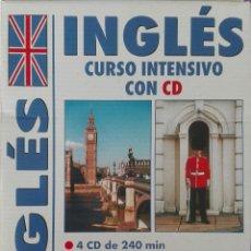 Libros de segunda mano: CURSO DE INGLÉS INTENSIVO CON CD. Lote 113005880