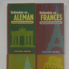 Libros de segunda mano: DEFIENDETE EN ALEMAN, FRANCES, INGLES, ITALIANO. 4 GUIAS PRACTICAS DE CONVERSACION. ANAYA. TDK166. Lote 91704575