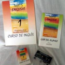 Libros de segunda mano: THAT'S ENGLISH, MÓDULOS 1 AL 6, CON SUS CASSETTES. Lote 95892915