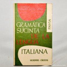 Libros de segunda mano: GRAMATICA SUCINTA DE LA LINGUA ITALIANA. Lote 95326064