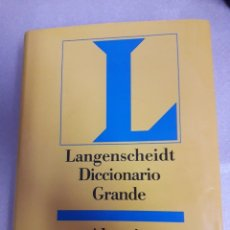 Libros de segunda mano: DICCIONARIO GRANDE ALEMAN ESPAÑOL - ESPAÑOL ALEMAN LANGENSCHEIDT. Lote 97745991