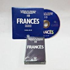 Libros de segunda mano: CINTA CASETE Y CD: 10 DE FRANCES DE PLANETA DE AGOSTINI. Lote 98765499