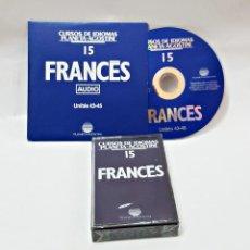 Libros de segunda mano: CINTA CASETE Y CD: 15 DE FRANCES DE PLANETA DE AGOSTINI. Lote 98765799