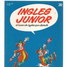 Libros de segunda mano: INGLÉS JUNIOR, EL CURSO DE INGLÉS QUE DIVIERTE. FASCÍCULO Nº 20. SALVAT. (B/59). Lote 99525319