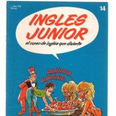 Libros de segunda mano: INGLÉS JUNIOR, EL CURSO DE INGLÉS QUE DIVIERTE. FASCÍCULO Nº 14. SALVAT. (B/59). Lote 99526547