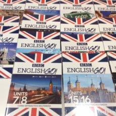 Libros de segunda mano: CURSO BBC ENGLISH GO!! COMPLETO - 15 LIBROS + 30 DVD + 30 CD ROM. Lote 101180179