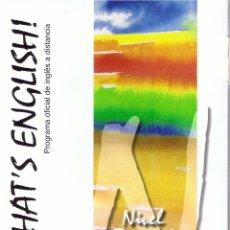Libros de segunda mano: THAT`S ENGLISH-NIVEL BASICO 1Y2 MODULOS 1,2,3,4Y5 COMPLETO 9 LIBROS+23 CD AUDIO,MULTIMEDIA Y DVD FN3. Lote 103544723