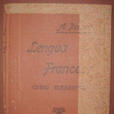 Libros de segunda mano: LENGUA FRANCESA. CURSO ELEMENTAL 1940. Lote 105568527