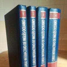 Libros de segunda mano: CURSO INTERACTIVO INGLÉS - OCÉANO - 2 VOLÚMENES + DVD CDROMS CINTAS Y VHS - COMPLETO. Lote 105583575