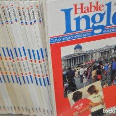 Libros de segunda mano: 24 TOMOS HABLE INGLÉS , CURSO PROGRAMADO PARA PÚBLICO ESPAÑOL - SARPE LONGMAN - ENM. Lote 106058507