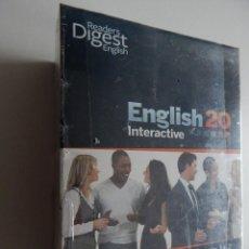 Libros de segunda mano: COFFRET WINDOWS DVD-ROM NIVEAUX 1 + 2 ENGLISH 20 INTERACTIVE - APPRENEZ L´ANGLAIS EN SEUL ... - NEUF. Lote 109166851