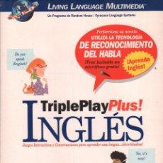 Libros de segunda mano: TRIPLE PLAY PLUS INGLES / CURSO INTERACTIVO DE INGLES ( CD +LIBRO + MANUAL DE USUARIO) MUNDI-3031. Lote 110506343
