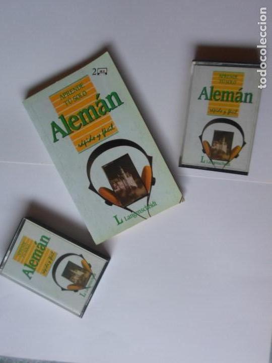 APRENDE TU SOLO ALEMAN - DIETHARD LUBKE - ED. PIRAMIDE - LIBRO + 2 CASSETTES (Libros de Segunda Mano - Cursos de Idiomas)