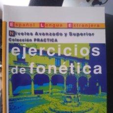 Libros de segunda mano: EJERCICIOS DE FONETICA ESPAÑOL PARA EXTRANJEROS -LIBRO SOLO. Lote 58371569
