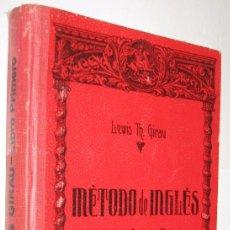 Libros de segunda mano: METODO DE INGLES - LIBRO PRIMERO - LEWIS GIRAU *. Lote 113268935