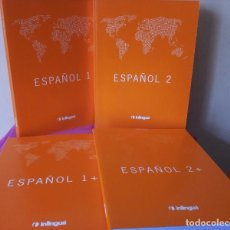 Libros de segunda mano: CURSO DE ESPAÑOL - 4 LIBROS DE THE INTERNATIONAL INLINGUA SCHOOL OF LANGUAGES 2001. Lote 113432383