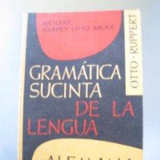 Libros de segunda mano: GASPEY OTTO SAUER, GRAMÁTICA DE LA LENGUA ALEMANA. Lote 113549355