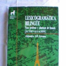Libros de segunda mano: LEXICOGRAMATICA BILINGÜE. . Lote 117988107