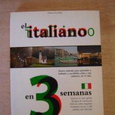 Libros de segunda mano: EL ITALIANO EN 3 SEMANAS - VALERIO ZECCHINI. Lote 118464019