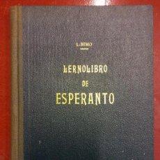 Libros de segunda mano: BJS. MIMO. LERNOLIBRO DE ESPERANTO. CURSO COMPLETO. MUY RARO. BRUMART TU TIENDA. Lote 118918039