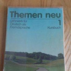 Libros de segunda mano: THEMEN NEU 1. LIBRO DE TEXTO. PRIMER CURSO. EDITORIAL HUEBER.. Lote 119779551