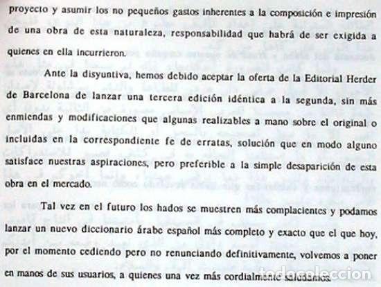 Libros de segunda mano: DICCIONARIO ESPAÑOL - ÁRABE - F. CORRIENTE - ED. HERDER 2000 - POCO USO - VER DESCRIPCIÓN - Foto 3 - 120107803