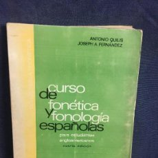 Libros de segunda mano: CURSO DE FONETICA Y FONOLOGIA ESPAÑOL PARA ESTUDIANTES ANGLOAMERICANOS CSIC SONIDOS FONEMAS . Lote 121015211
