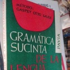 Libros de segunda mano: GRAMÁTICA SUCINTA DE LA LENGUA ITALIANA, MÉTODO GASPEY OTTO SAVER. Lote 122583771