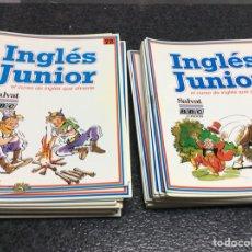 Libros de segunda mano: INGLES JUNIOR, EL CURSO DE INGLES QUE DIVIERTE - LOTE DE 65 FASCICULOS. Lote 17757927