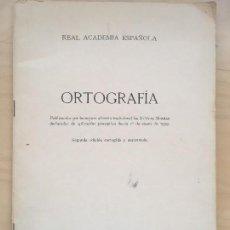 Libros de segunda mano: ORTOGRAFIA - REAL ACADEMIA ESPAÑOLA - IMPRENTA AGUIRRE, MADRID, 1974, 2ª EDICION AUMENTADA . Lote 125311207