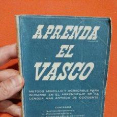 Libros de segunda mano: APRENDA EL VASCO LIBRO AÑOS 50 CON FRASES EN EUSKERA Y CASTELLANO PARA HABLAR EUSKERA . Lote 125415787