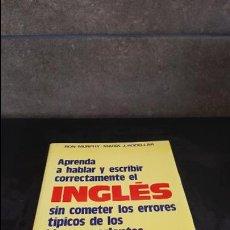 Libros de segunda mano: APRENDA A HABLAR Y ESCRIBIR CORRECTAMENTE EL INGLES SIN COMETER LOS ERRORES TIPICOS DE LOS HISPANOAB. Lote 125825047
