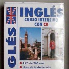 Libros de segunda mano: INGLÉS. CURSO INTENSIVO CON CD. CONTIENE LIBRO DE TEXTO, TABLA DE GRAMÁTICA Y 4 CD. PRECINTADO. Lote 126333871