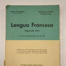 Libros de segunda mano: LENGUA FRANCESA. SEGUNDO AÑO. TERCER CURSO DE BACHILLERATO PLAN 1957.. EDICIONES DAIMON. 1967 TDK300. Lote 127149427