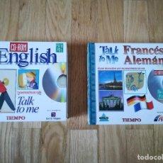Libros de segunda mano: CURSOS IDIOMAS TALK TO ME - INGLÉS, FRANCÉS Y ALEMAN (32 CD-ROM). Lote 128328683