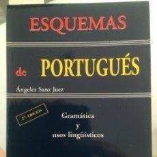 Libros de segunda mano: ESQUEMAS DE PORTUGUÉS, GRAMÁTICA Y USOS LINGÜÍSTICOS, SANZ JUEZ, ÁNGELES. Lote 60041723