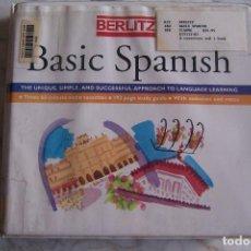 Libros de segunda mano: CURSO DE ESPAÑOL BERLITZ. BASIC SPANISH. 3 CASSETTES + LIBRO DE TEXTO CON ACTIVIDADES, SIN USO... Lote 129093303