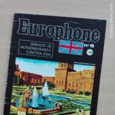 Libros de segunda mano: FOLLETO 28 PG - EUROPHONE Nº 6 - 1980'S - CASTELLANO INGLES. Lote 130848796