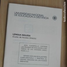 Libros de segunda mano: UNED 198/7/88 - 2 CUADERNILLOS INGLES - UNIDADES DIDACTICAS 1 A 5 -. Lote 130849312