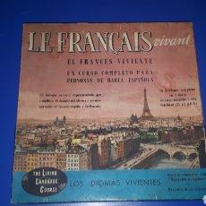 Libros de segunda mano: EL FRANCÉS VIVIENTE. CURSO DE FRANCÉS. 1957.. Lote 131918814