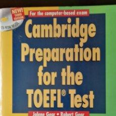 Libros de segunda mano: CAMBRIDGE PREPARATION FOR THE TOEFL TEST CON CD. Lote 132378233