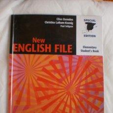 Libros de segunda mano: NEW ENGLISH FILE ELEMENTARY STUDENT'S BOOK. Lote 132383054