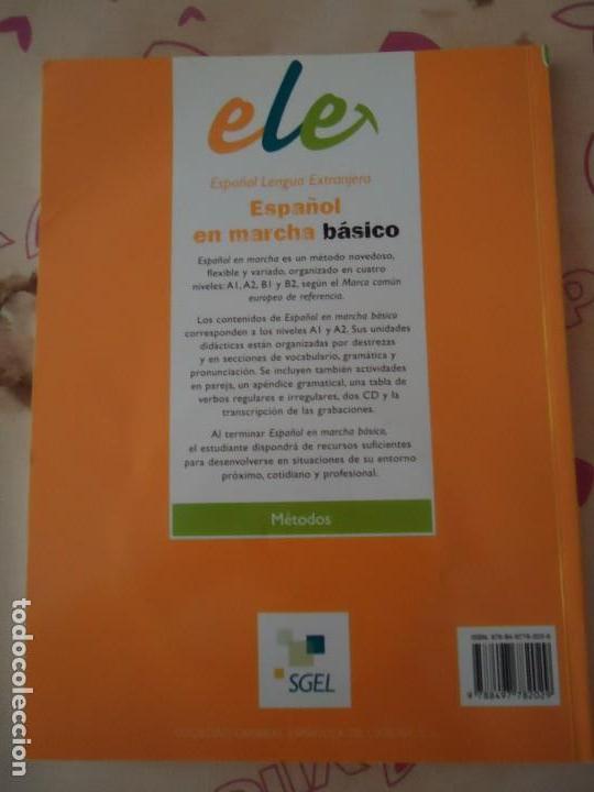 Libros de segunda mano: LIBRO. ESPAÑOL EN MARCHA, NIVEL BÁSICO, A1 + A2. LIBRO DEL ALUMNO.INCLUYE 2 C.D. DE AUDIO. - Foto 2 - 178734766
